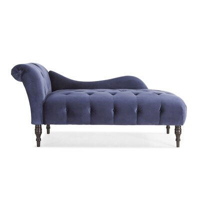 Dagnall Fabric Chaise Lounge Upholstery: Navy Blue
