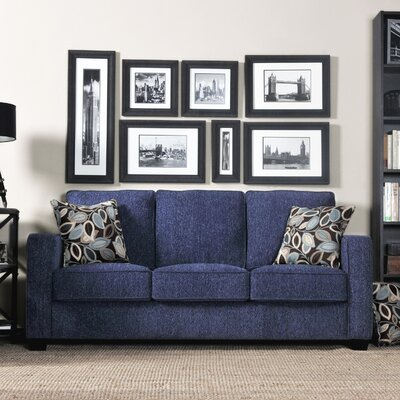 furniture living room furniture sofa blue denim sofa