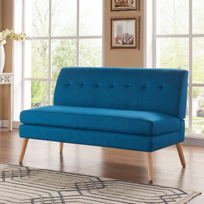 Kingston Loveseat Upholstery: Blue Peacock