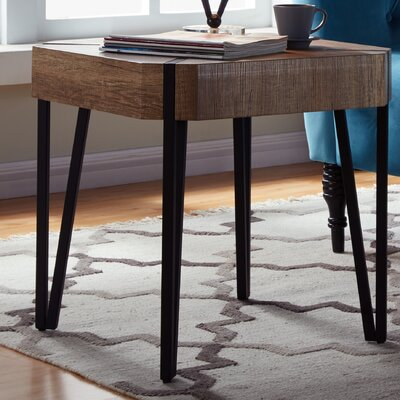 Vincente End Table Color: Aged Oak