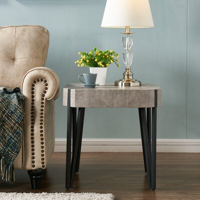 Vincente End Table Color: Concrete