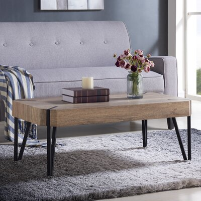 Vincente Rectangular Coffee Table Top Finish: Aged Oak