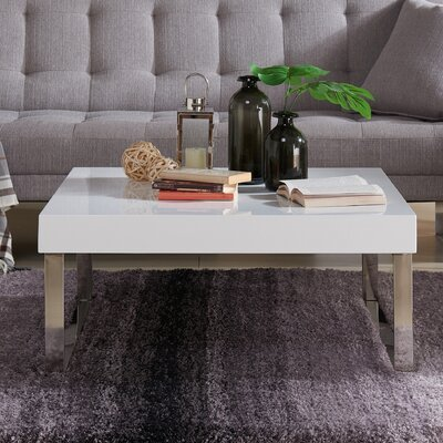 Pollitt Square Coffee Table Base Color: White