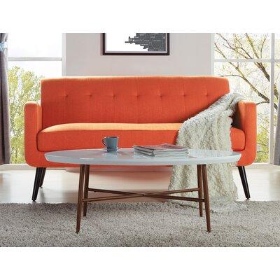 Umstead Oval Engineered Wood Coffee Table Base Finish: Dark Brown Oak