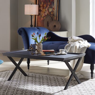Kirti Rectangular Coffee Table Color: Black Oak