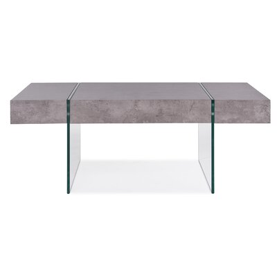Donquez Rectangular Coffee Table Top Color: Light Gray