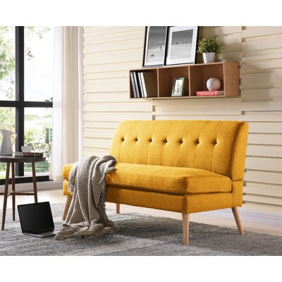 Kingston Loveseat Upholstery: Mustard Yellow