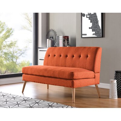 Kingston Loveseat Upholstery: Orange