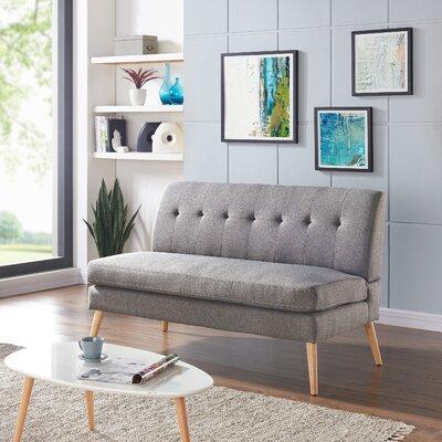 Kingston Loveseat Upholstery: Dove Gray