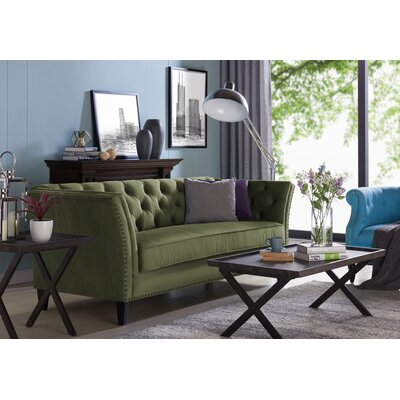 Gilmore Chesterfield Sofa Upholstery: Kale Green