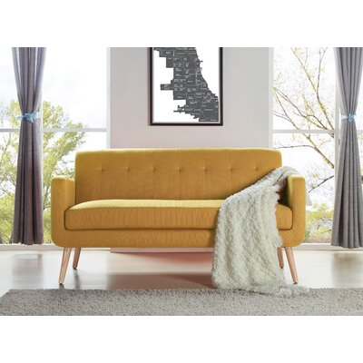 Kingston Sofa Upholstery: Mustard Yellow