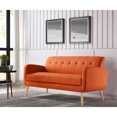 Kingston Sofa Upholstery: Orange