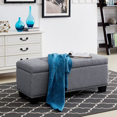 Hawley Storage Ottoman Upholstery: Gray