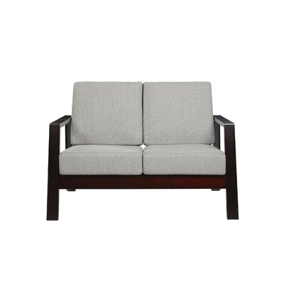 Phifer Loveseat Upholstery: Dove Gray, Finish: Espresso/Brown