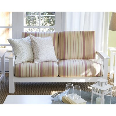 Kazmierski X Design Loveseat Upholstery: Pink, Finish: White