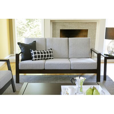 Phifer Sofa Upholstery: Dove Gray, Finish: Espresso/Brown