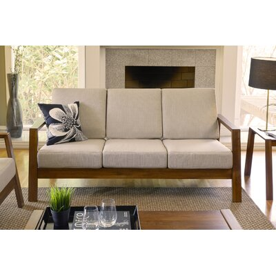 Phifer Sofa Upholstery: Barley Tan, Finish: Cherry