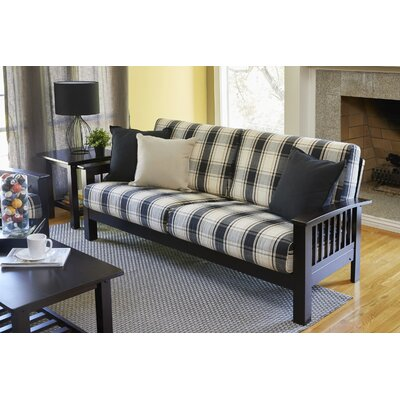 Greenbaum Sofa Upholstery: Black/Brown, Finish: Espresso/Brown