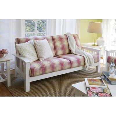 Greenbaum Sofa Upholstery: Pink, Finish: White