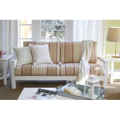 Kazmierski Sofa Upholstery: Pink, Finish: White