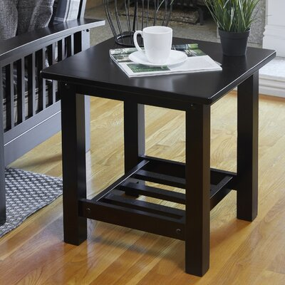 Delfausse End Table Color: Espresso/Brown