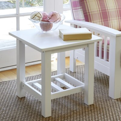 Delfausse End Table Color: White
