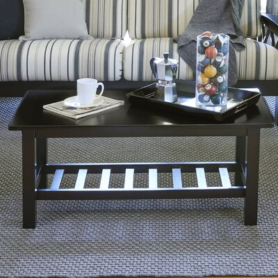 Delfausse Coffee Table Color: Espresso/Brown
