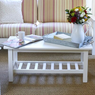 Delfausse Coffee Table Color: White