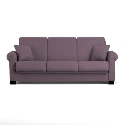Lawrence Full Convertible Sleeper Sofa Upholstery: Purple