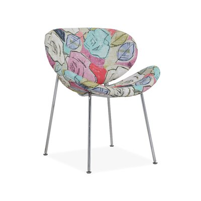 Mullis Side Chair Upholstery: Floral Fuscia