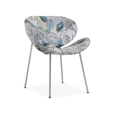 Mullis Side Chair Upholstery: Floral Blue