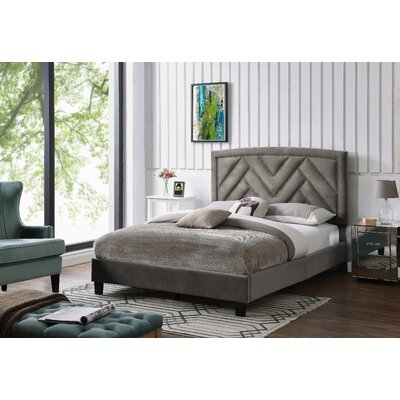 Arverne Queen Upholstered Panel Bed Color: Mink Gray