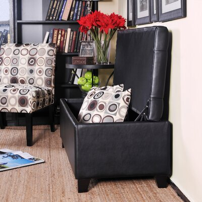 Tufted Bench Renu Leather Storage Ottoman