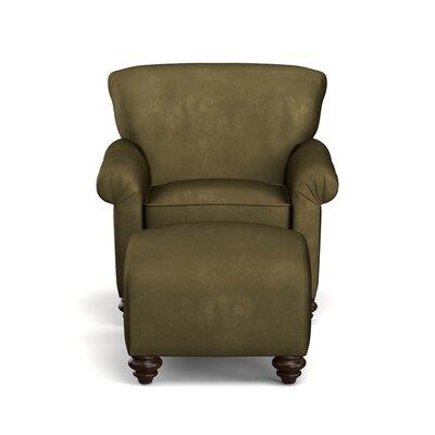 Fenton Armchair and Ottoman Upholstery: Dark Moss