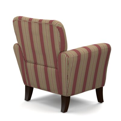 Sasha Armchair Upholstery: Crimson Red Stripe