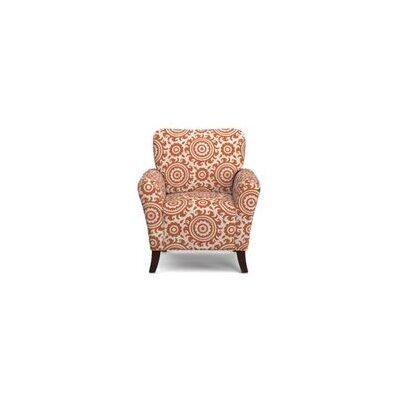 Sasha Armchair Upholstery: Orange and Cream Medallion