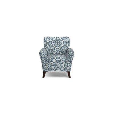 Sasha Armchair Upholstery: Caribbean Blue and Cream medallion