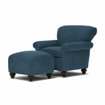 Fenton Armchair and Ottoman Upholstery: Blue