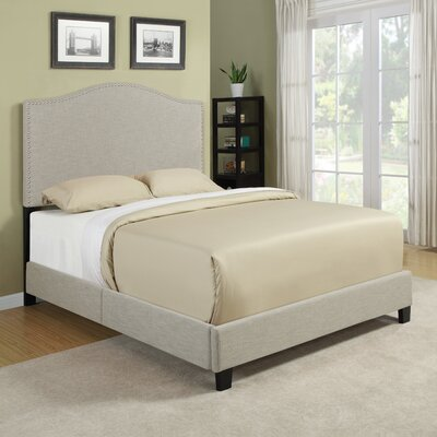 Queen Upholstered Panel Bed Color: Barley Tan