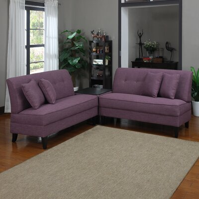 Handy Living Sectional Upholstery: Amethyst Linen