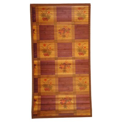 Intersection Bouquet Light Brown Area Rug Rug Size: Runner 18 x 92