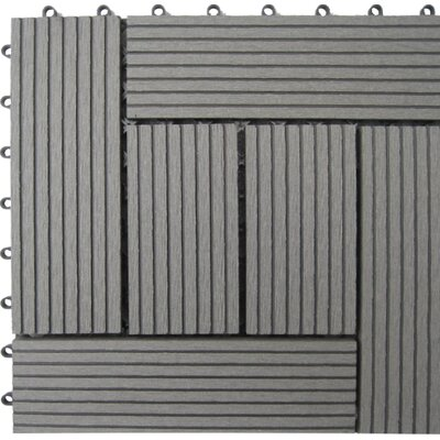 Bamboo Composite 12 x 12 Deck Tiles in Grey