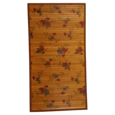 Intersection Red Roses/Medium Brown Area Rug Rug Size: Runner 18 x 71