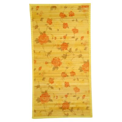 Intersection Cut Roses/Light Yellow Area Rug Rug Size: Runner 18 x 92