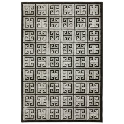 Pacifica Highgate Black Area Rug Rug Size: 34 x 55