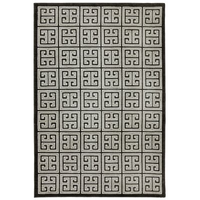 Pacifica Highgate Black Area Rug Rug Size: 53 x 79