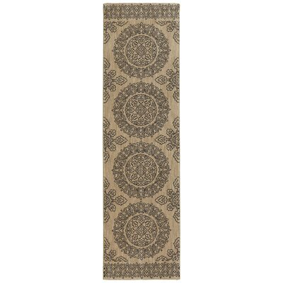Pacifica Leawood Tan Area Rug Rug Size: Runner 21 x 79
