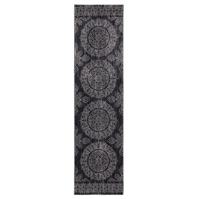 Pacifica Leawood Black Area Rug Rug Size: 35 x 55