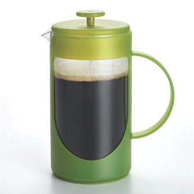 Ami-Matin French Press Coffee Maker Size: 3 Cup, Color: Green 53196