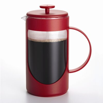 3-Cup Ami-Matin French Press Coffee Maker Size: 3 Cup, Color: Red 53194